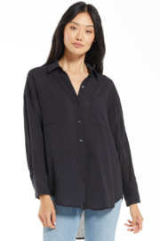 z supply Lalo Gauze Button Up Top - Product Mini Image