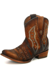 Corral Lamb Embroidered Bootie - Product Mini Image