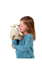 Folkmanis Lamb Hand Puppet - Back cropped