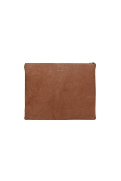 One Fated Knight Lamb Leather Oversize Pouch - Alternate List Image