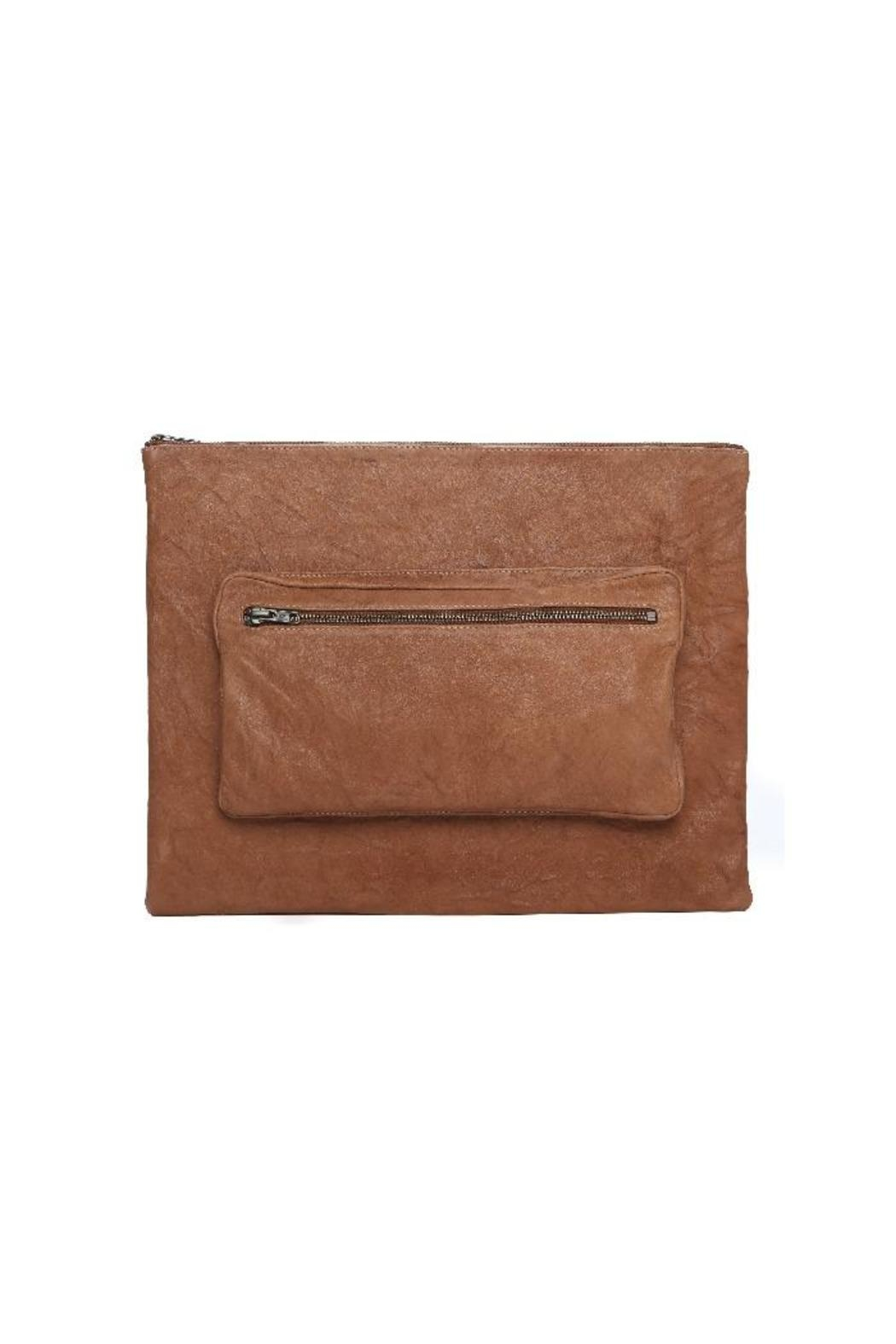 One Fated Knight Lamb Leather Oversize Pouch - Main Image
