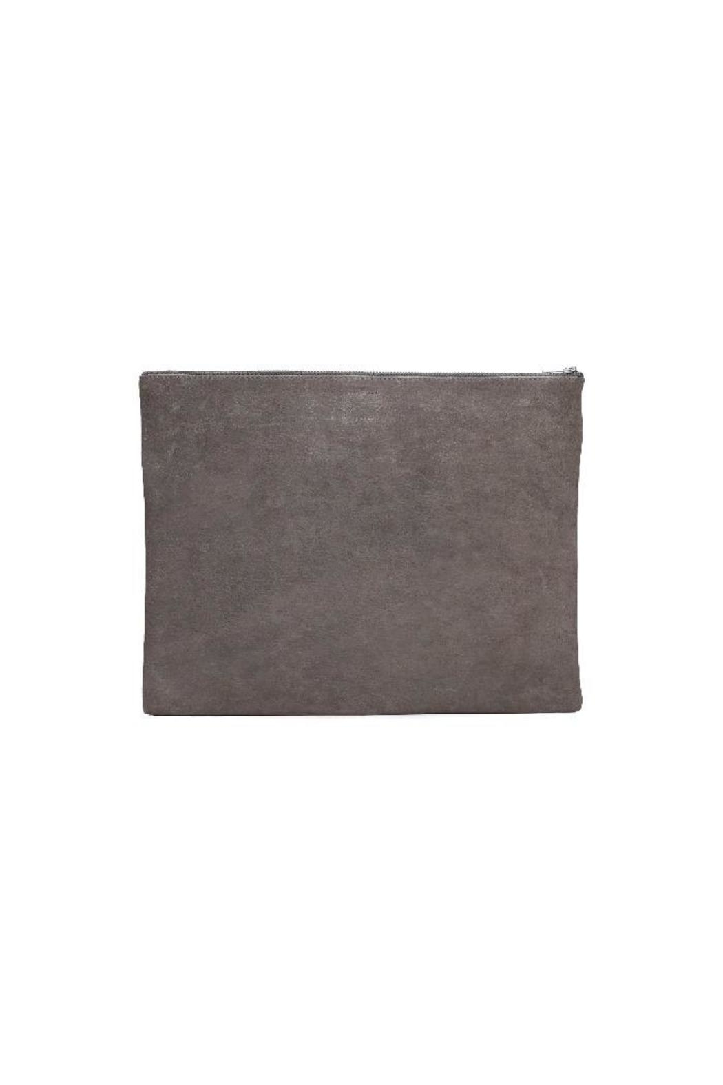 One Fated Knight Lamb Leather Oversize Pouch - Front Full Image