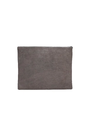 One Fated Knight Lamb Leather Oversize Pouch - Front full body