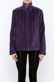 Lana Lee Chenille Zippered Jacket - Side cropped