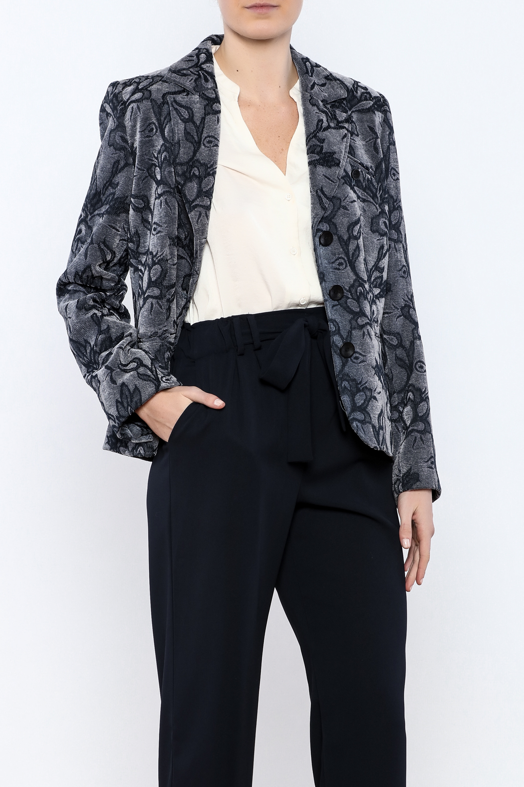 Lana Lee Floral Tapestry Jacket - Front Cropped Image