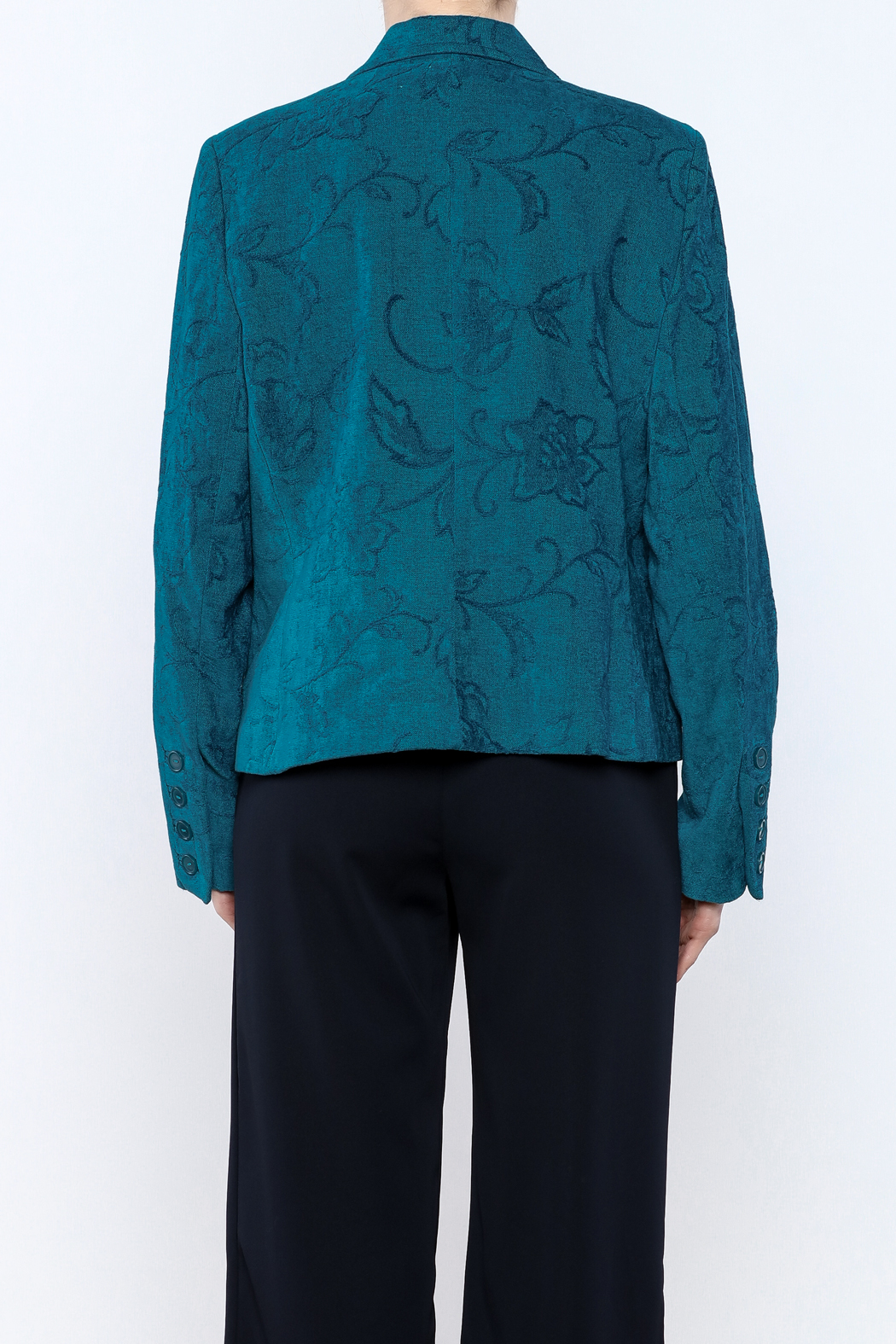 Lana Lee Floral Tapestry Jacket - Back Cropped Image