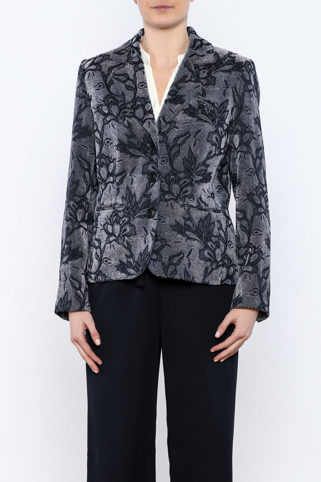 Lana Lee Floral Tapestry Jacket - Side Cropped Image