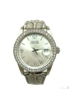 Shoptiques Product: Crocodile Strap Silver Watch