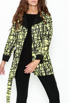 Shoptiques Product: Yellow Graphic Trench