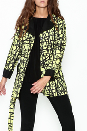 Landi Yellow Graphic Trench - Front cropped