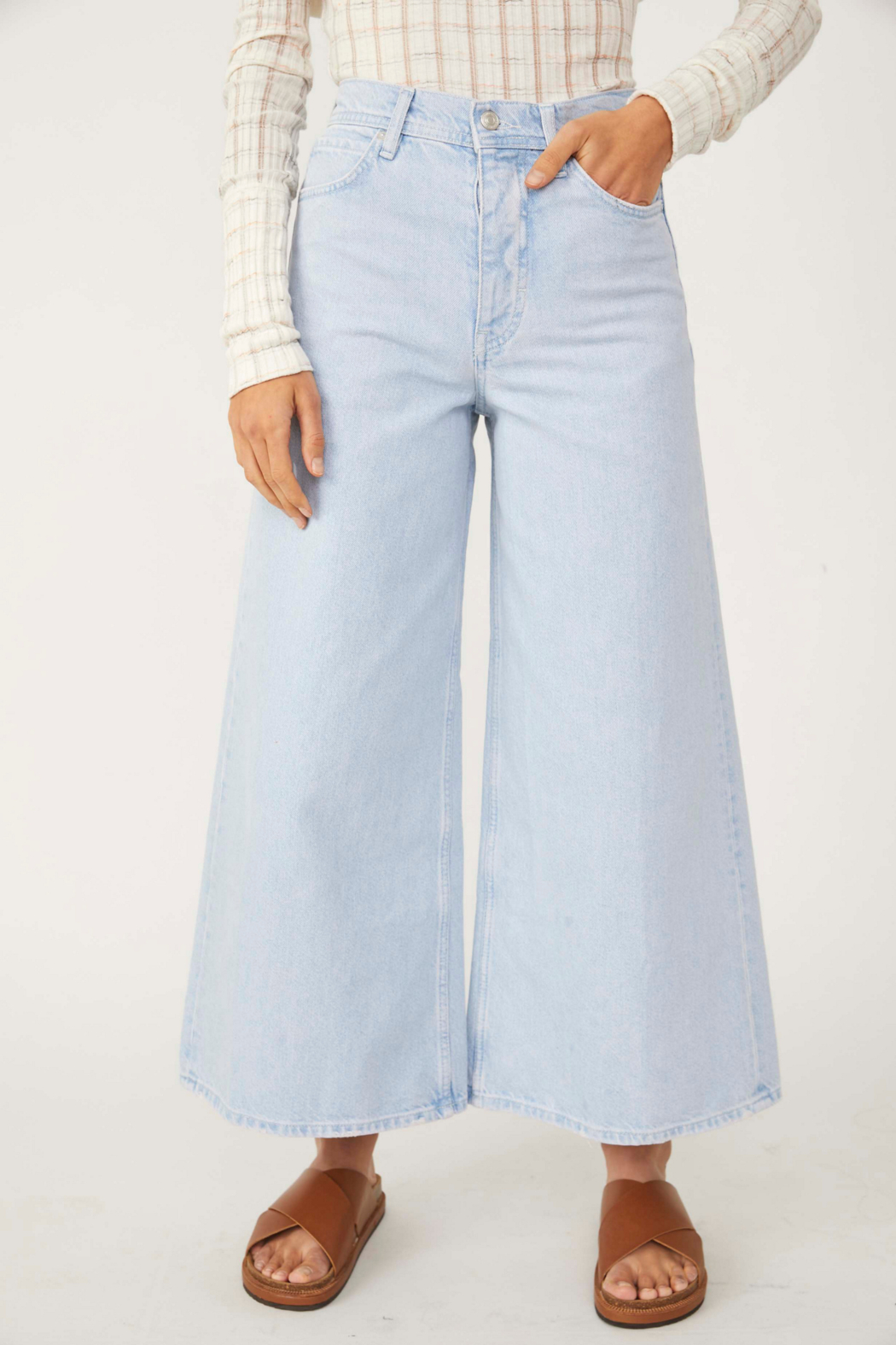 Free People  Landry Wide Crop - Front Full Image