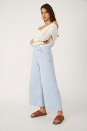 Free People  Landry Wide Crop - Front cropped