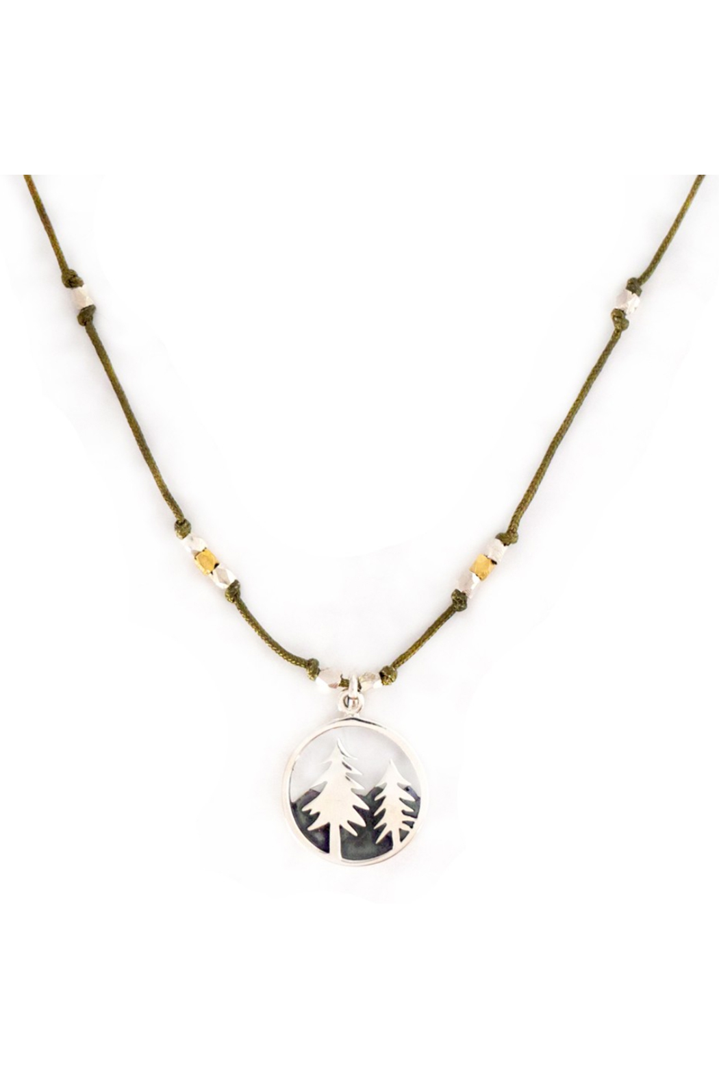 Bronwen Landscape Forest Necklace - Front Full Image
