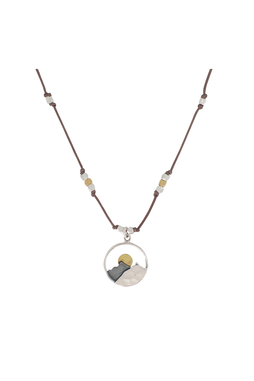 Brownen Landscape Mountain Necklace - Front Cropped Image