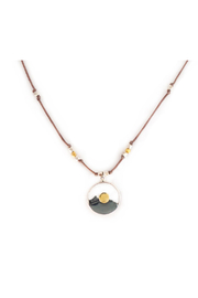 Brownen Landscape Mountain Necklace - Front full body