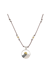 Brownen Landscape Mountain Necklace - Front cropped