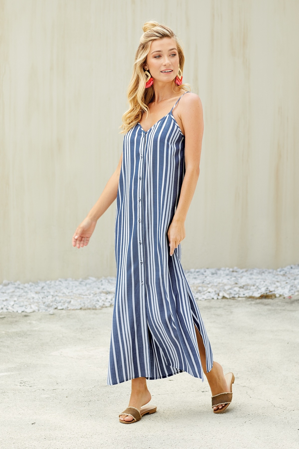 Mud Pie  Lane Maxi Dress - Front Full Image
