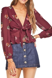 ASTR Laney Burgundy Top - Product Mini Image
