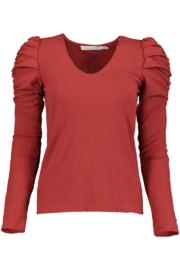 Bishop + Young Lani Puff Sleeve Knit Tee - Front cropped