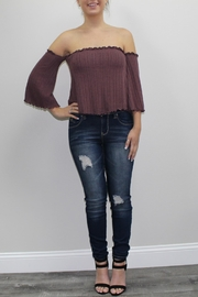 Lani Collection Mauve Offshoulder Top - Product Mini Image