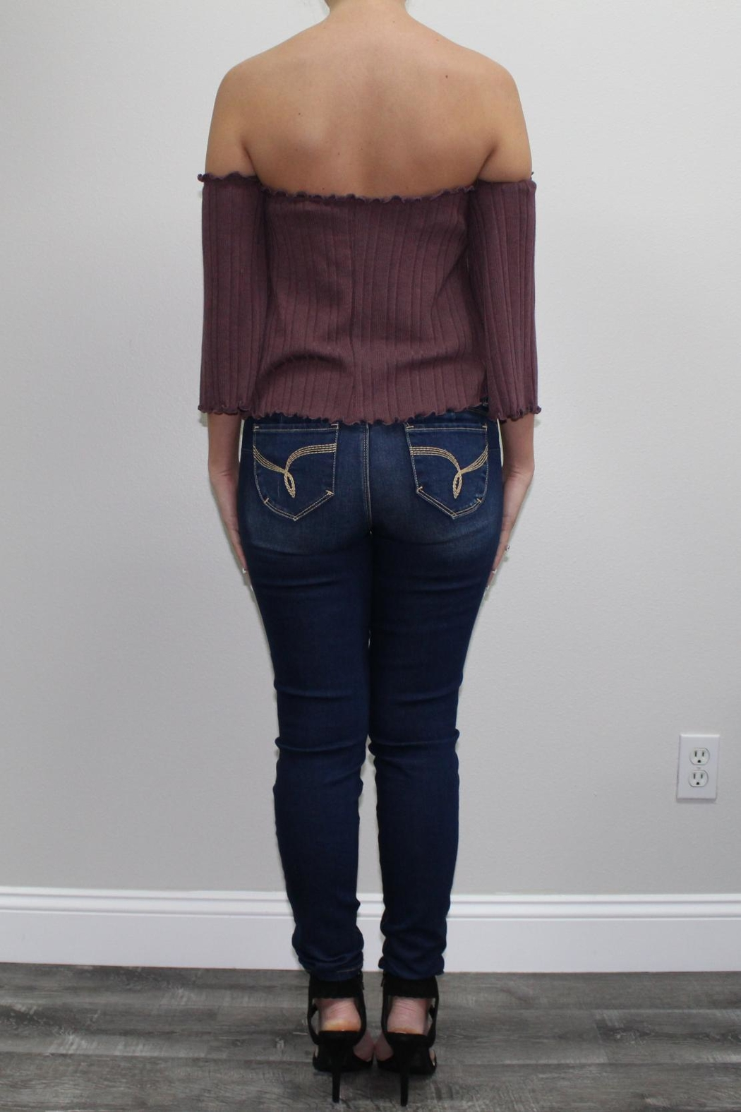 Lani Collection Mauve Offshoulder Top - Front Full Image