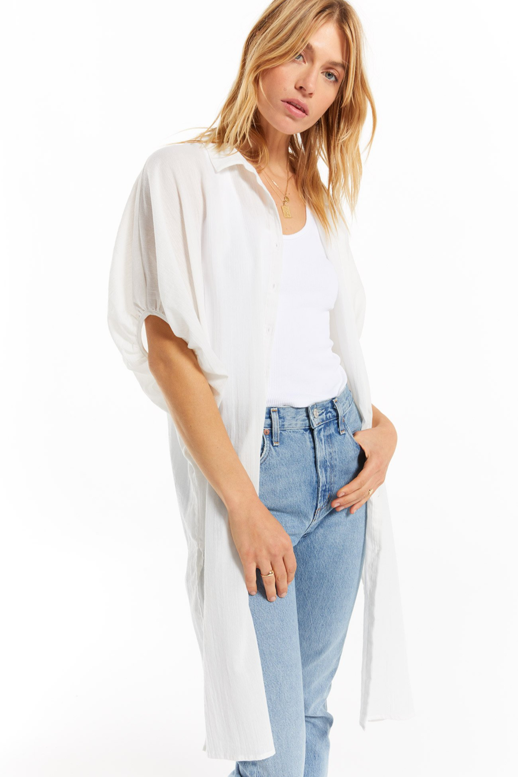 z supply Lania Maxi Cover Up - Front Cropped Image