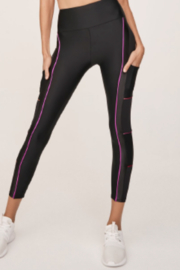 Lanston Sport Lanston Ultra Cool Black with pink and orange pipping - Product Mini Image