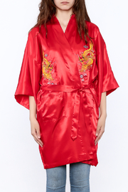 Laogudai Red Dragon Satin Robe - Side cropped