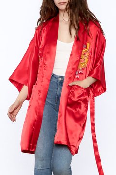Laogudai Red Dragon Satin Robe - Product List Image