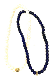 The Woods Fine Jewelry  Lapis and Brass Double Necklace - Product Mini Image