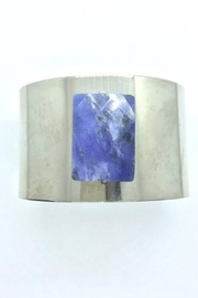 Lotus Jewelry Studio Lapis Faceted Stone Cuff - Front full body