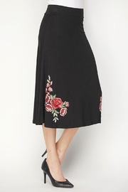 Lapis Flower Embroidered Skirt - Product Mini Image