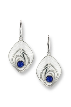 Nicole Barr Lapis Sterling Earrings - Alternate List Image