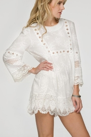 Lapis White Lace Shirt - Front cropped