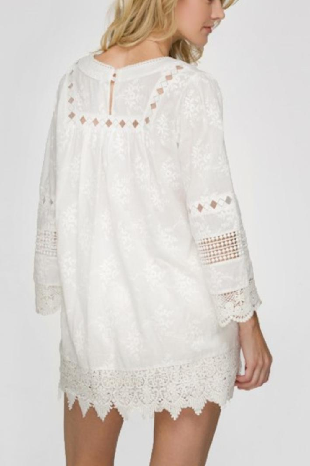 Lapis White Lace Shirt - Front Full Image