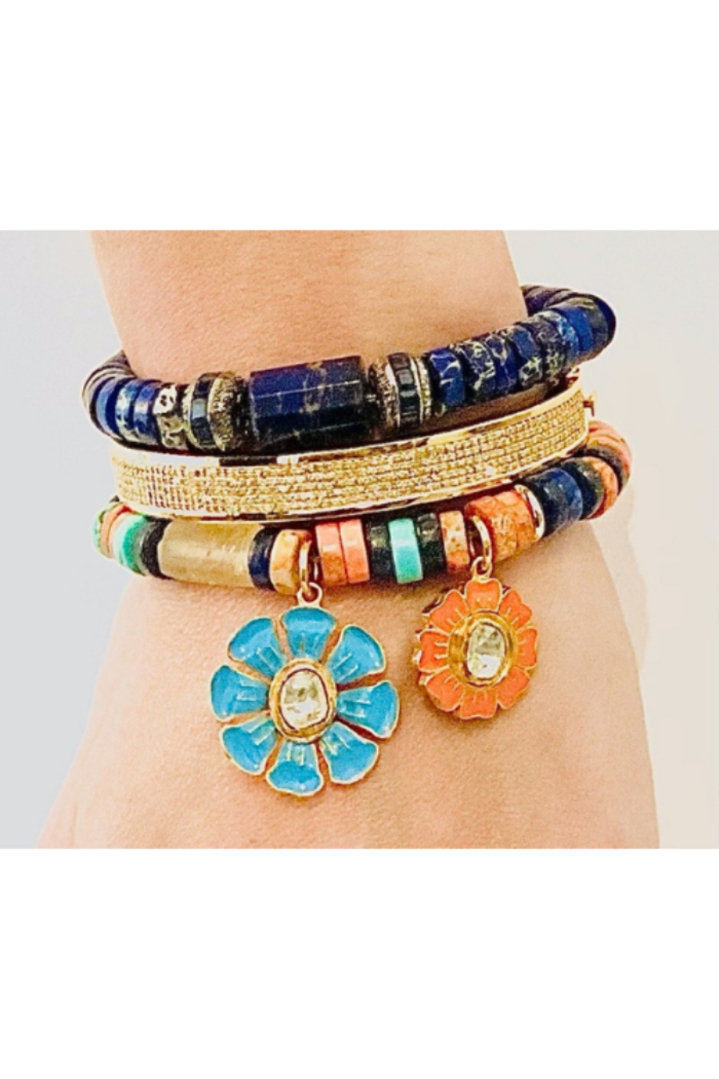 The Woods Fine Jewelry  Lapis with Paves Multiple - Main Image