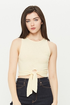 Michelle by Comune LAPORTE TIE CROP TANK - Product List Image