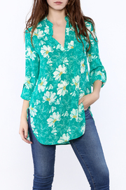 Lara Fashion Floral Long Sleeve Blouse - Product Mini Image