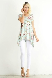 Lara Floral Asymmetric Tunic - Product Mini Image