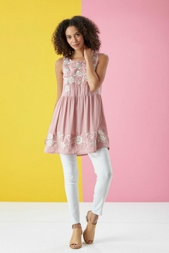 Lara Floral Embroidered Tunic - Product List Image