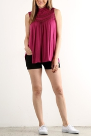 Lara Fashion Crochet Yoke Tank - Product Mini Image
