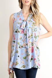 Lara Fashion Floral Tie Top - Product Mini Image