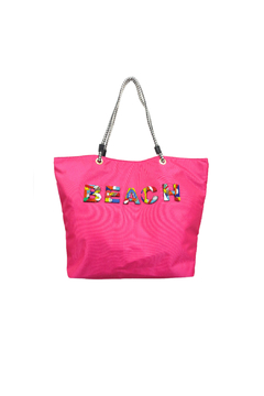 Sondra Roberts Large Beaded Beach Tote - Product List Image