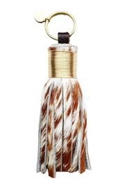 Large Brown White Tassel - Front cropped