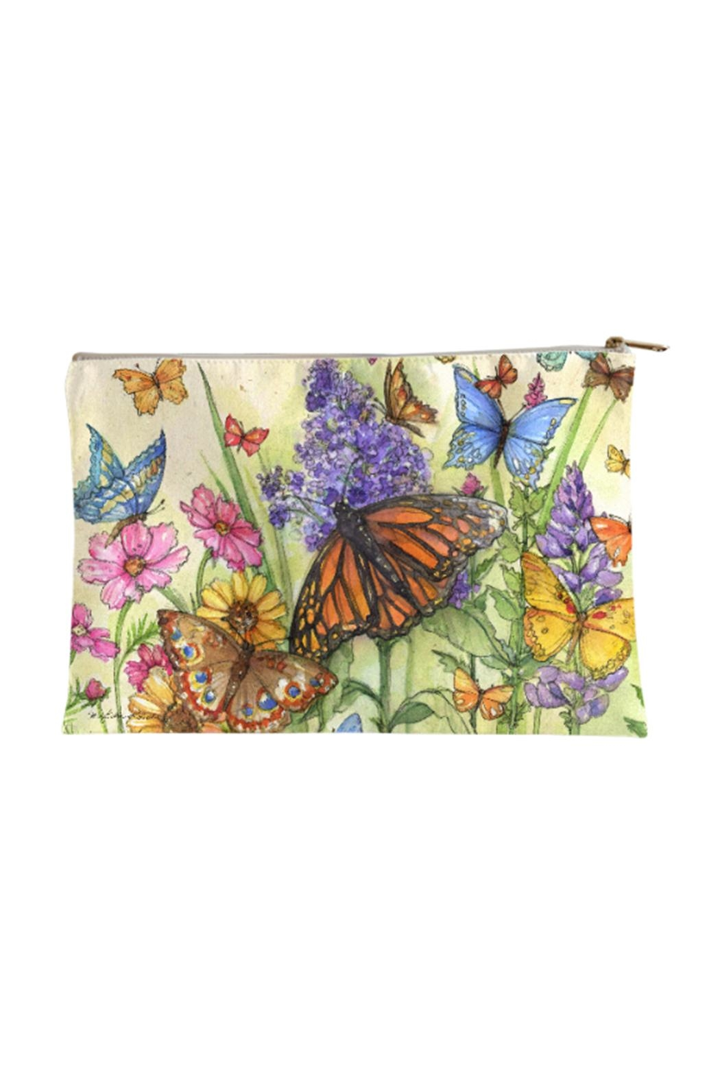Sally Eckman Roberts Large Butterfly-Garden Pouch - Main Image