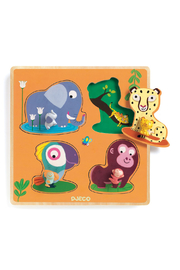Djeco Large Buttons Puzzles Mamijungle - Product Mini Image
