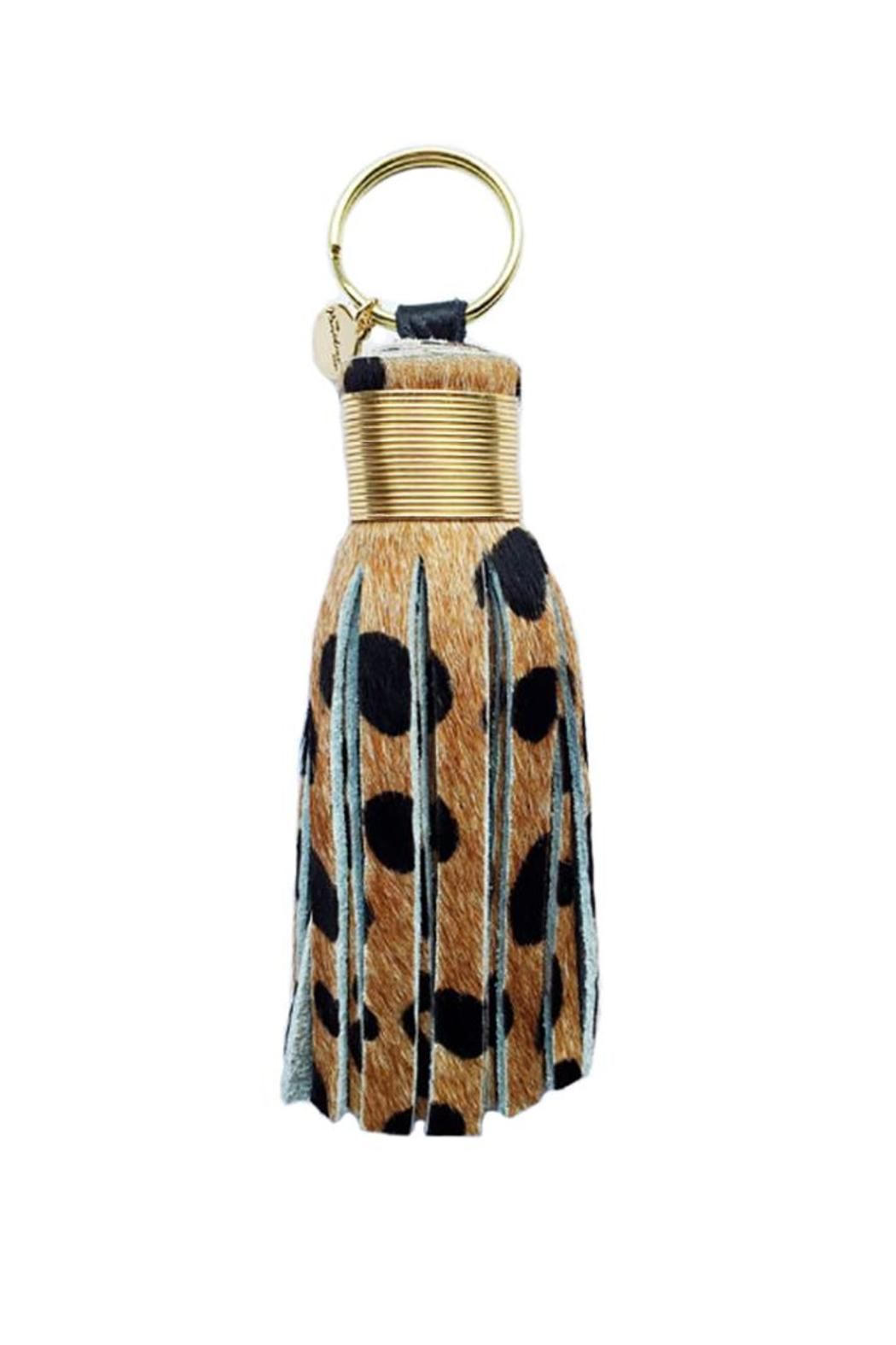 Large Cheetah Tassel - Front Cropped Image