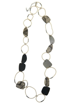 Accessorizit Large circle long necklace w leather - Product List Image