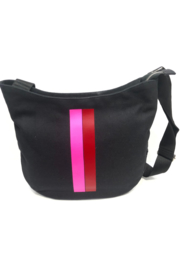 Quilted Koala Large City Bag - Red & Pink Stripe - Product Mini Image