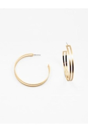 AL Boutique Large Double-Hoop Earrings - Product Mini Image